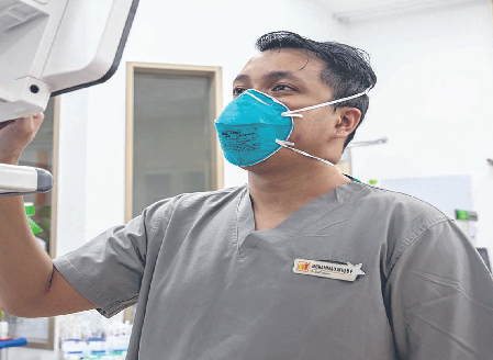 SKH nurse featured as one of the frontliners working on the first day of Hari Raya
