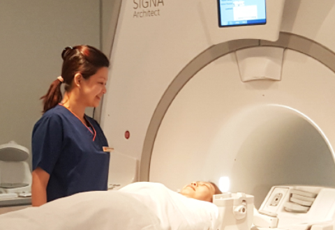 I work with Magnetic Resonance Imaging (MRI) which uses magnet and radio waves to create detailed 3D images of the body. The brain, spinal cord, nerves, muscles, ligaments and tendons are most commonly assessed with MRI.