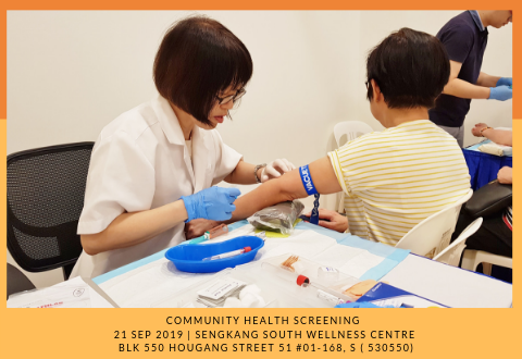 Community Health Screening: Sengkang South Wellness Centre